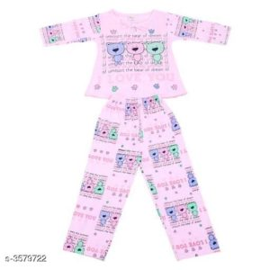 Doodle Trendy Cotton Kid's Night Suits