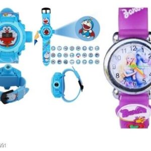 Trendy Rubber Digital Kid's Watches Combo ( Pack Of 2)