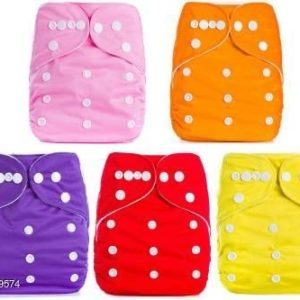 Adjustable Baby Cloth Diaper (Pack of 5)