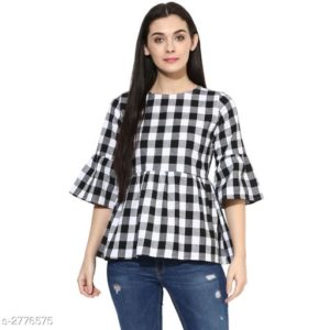 Flared Sleeve Designer Top