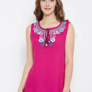 Stylish Rayon Embroidered Women's Top