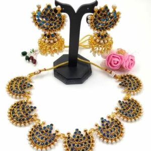 Women's Copper Gold Plated Jewellery Set