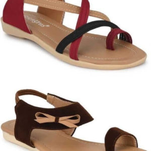 Stylish Women's Sandals (Pack of 2)