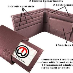 Attractive Artificial Leather Solid Men's Slide Wallets