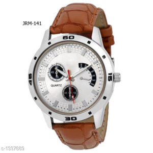 Mens Trendy Synthetic Leather Analog Watches