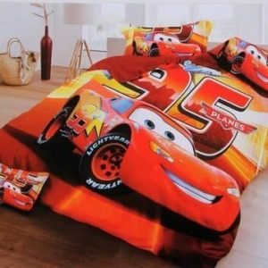 Cars Printed Kid's Double Bedsheet