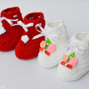 Kid's Trendy Wool Baby Booties Combo