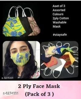 Cotton Fabric Cloth Masks 2