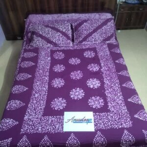 Pure cotton batik double bedsheet - Purple