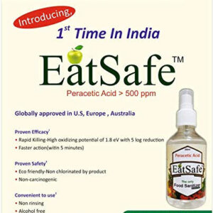 EatSafe | Fruits and Vegetables Washing Liquid Purpose Cleaner | Removes Germs, Bacteria and Fungus | Contains 100% Safe Ingredients (Pack of 5)