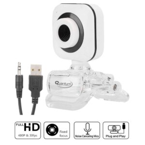 Quantum QHM495B 360 Degree Rotation PC HD Camera, with Built-in Microphone