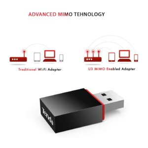 Tenda U3 Mini Wireless N Adapter (Black)