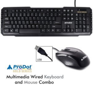 Prodot SRC-107+ 253 USB (Wired) Multimedia Keyboard and Mouse Combo