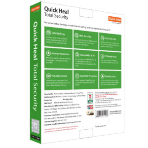 Quick Heal Total Security Latest Version – 1 PC, 1 Year (DVD)