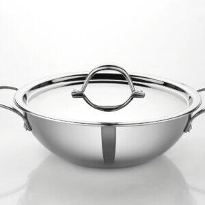 Kadai with Lid TRI-PLY Size 180mm